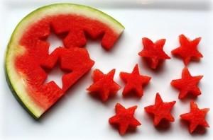 melancia estrelas